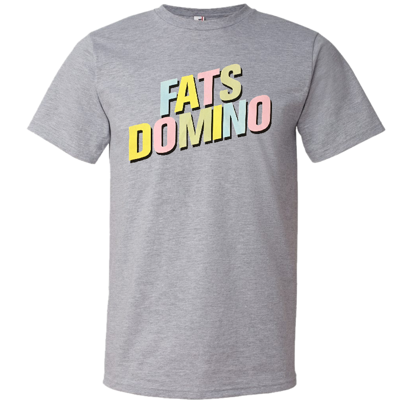 Fats Domino Heather Grey Logo Tee