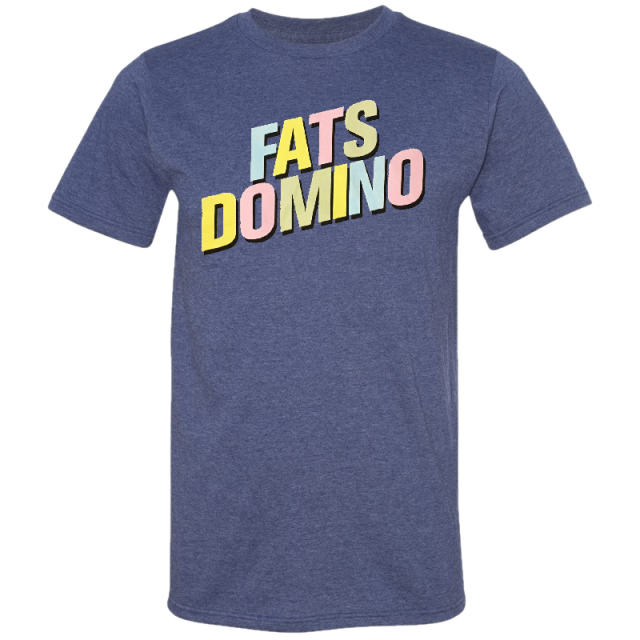 Fats Domino Heather Blue Logo Tee