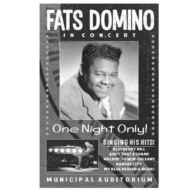 Fats Domino Poster